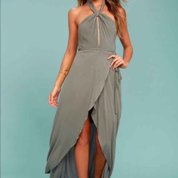 5e3f1e25b71 Lulus Sage Wrap Maxi Dress
